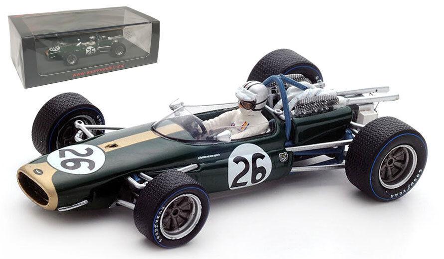 SPARK S5254 BRABHAM BT19 BELGIO GP 1967-Denny Hulme campione del mondo 1/43 SCALA