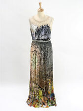 BNWT Anthropologie Womens Ombre Coppice Flutter Maxi Dress Size 12