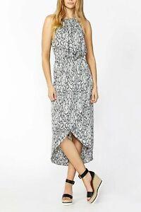 DECJUBA-Womens-Snake-Print-Lexi-Drape-Dress-RRP-149-95-Size-AU-12-or-US-8