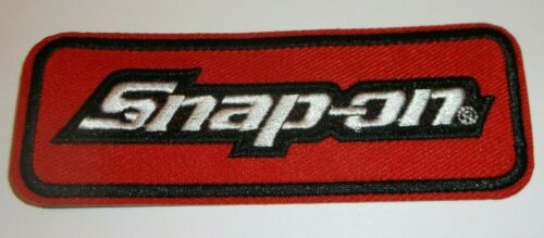 """Snap-On Tools~Embroidered Patch~Car Truck Auto Mechanic~4/"""" x 1 1//2/""""~Iron Sew On"""