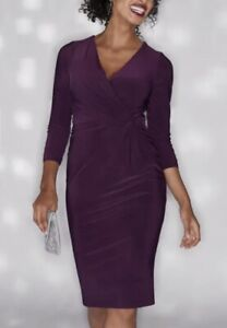 BRAVISSIMO-Ladies-Flattering-Twist-Side-Dress-Midi-Evening-Dress-RRP-65-BR182