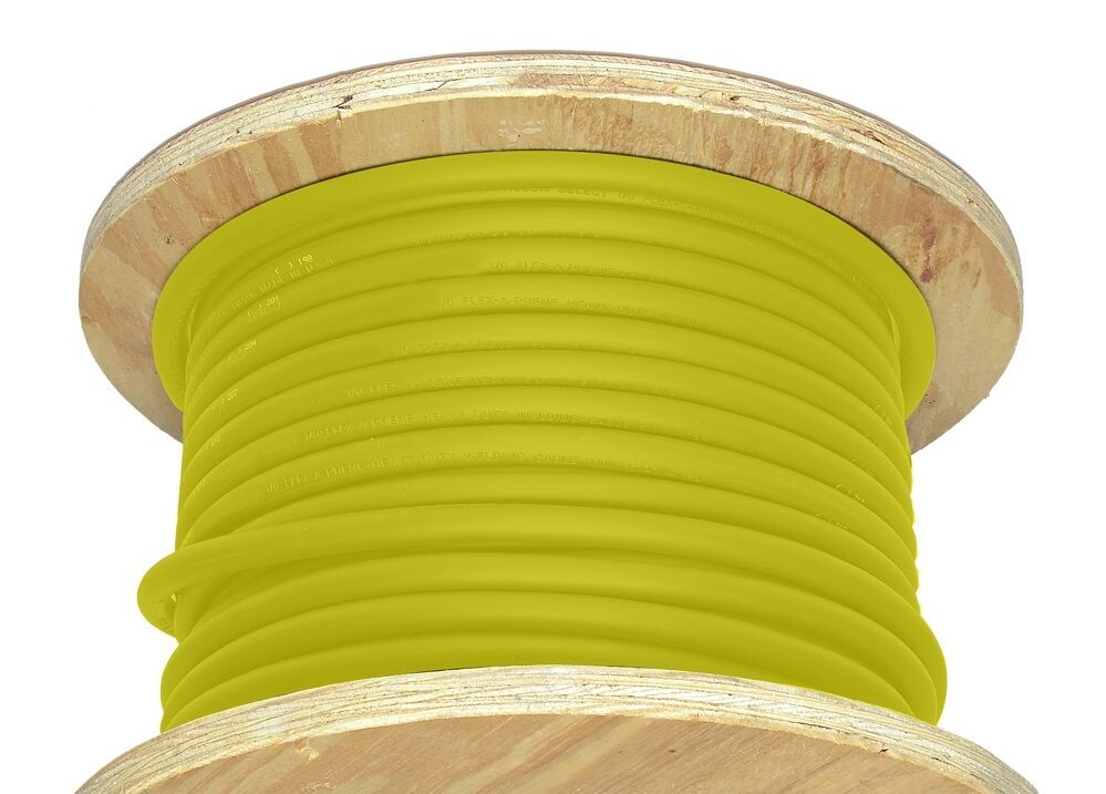 50/' 1//0 AWG Welding Cable Yellow Flexible Outdoor Wire