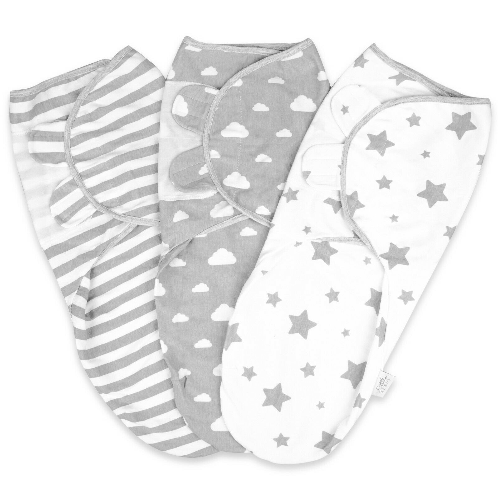 Little Seeds 100% Organic Cotton Swaddle Wrap Newborn Blanket
