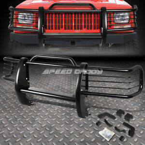 FOR 84-01 JEEP CHEROKEE XJ SUV BLACK COATED MILD STEEL FRONT GRILL FRAME GUARD