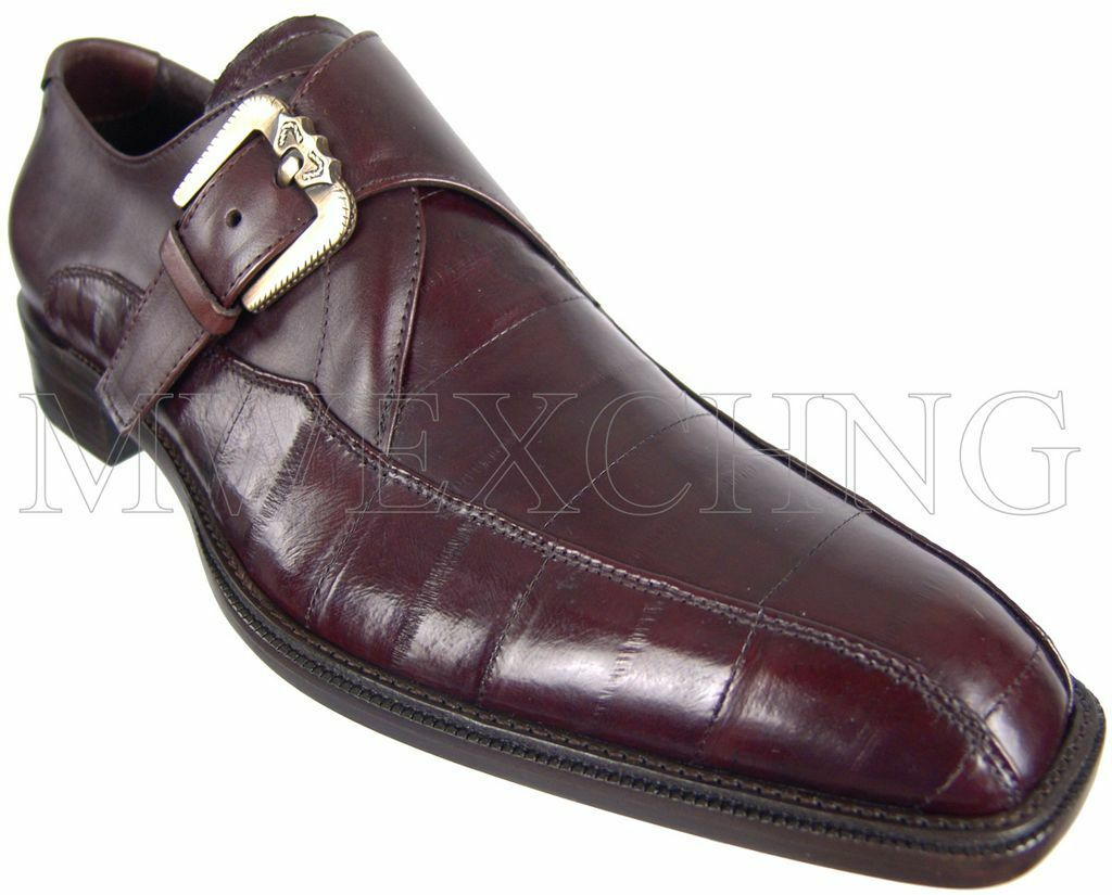 CESARE PACIOTTI MONK STRAP EEL LOAFERS schuhe US 8