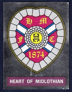 PANINI FOOTBALL 91-#418-HEART OF MIDLOTHIAN SILVER FOIL BADGE
