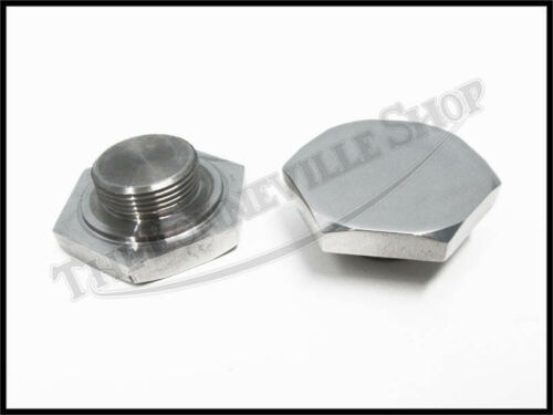 2 TRIUMPH 750cc T150V 1973-74 TRIDENT STAINLESS FORK TOP NUTS PN# 97-4404 S