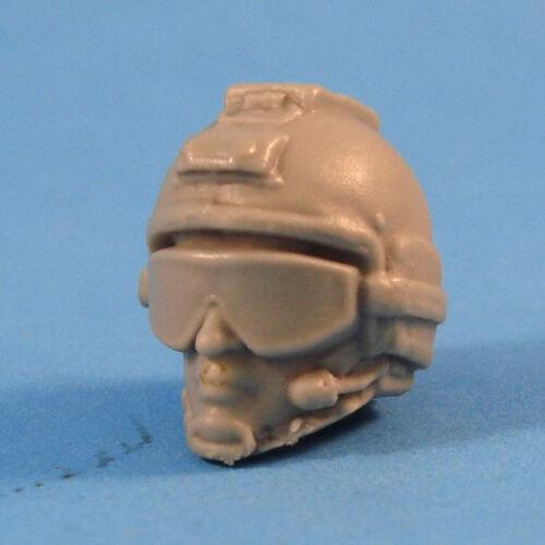 MH066 Custom Cast male head use with 3.75 Star Wars Marvel GI Joe figure
