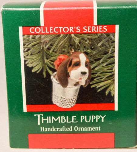 Hallmark Keepsake Classic Ornament Thimble Puppy 12th in Series