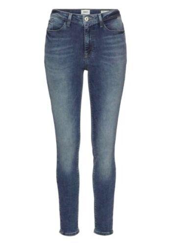 Only Skinny Jeans Corin Damen Slim Stretch Mid Waist Hose Blue Denim Used L32