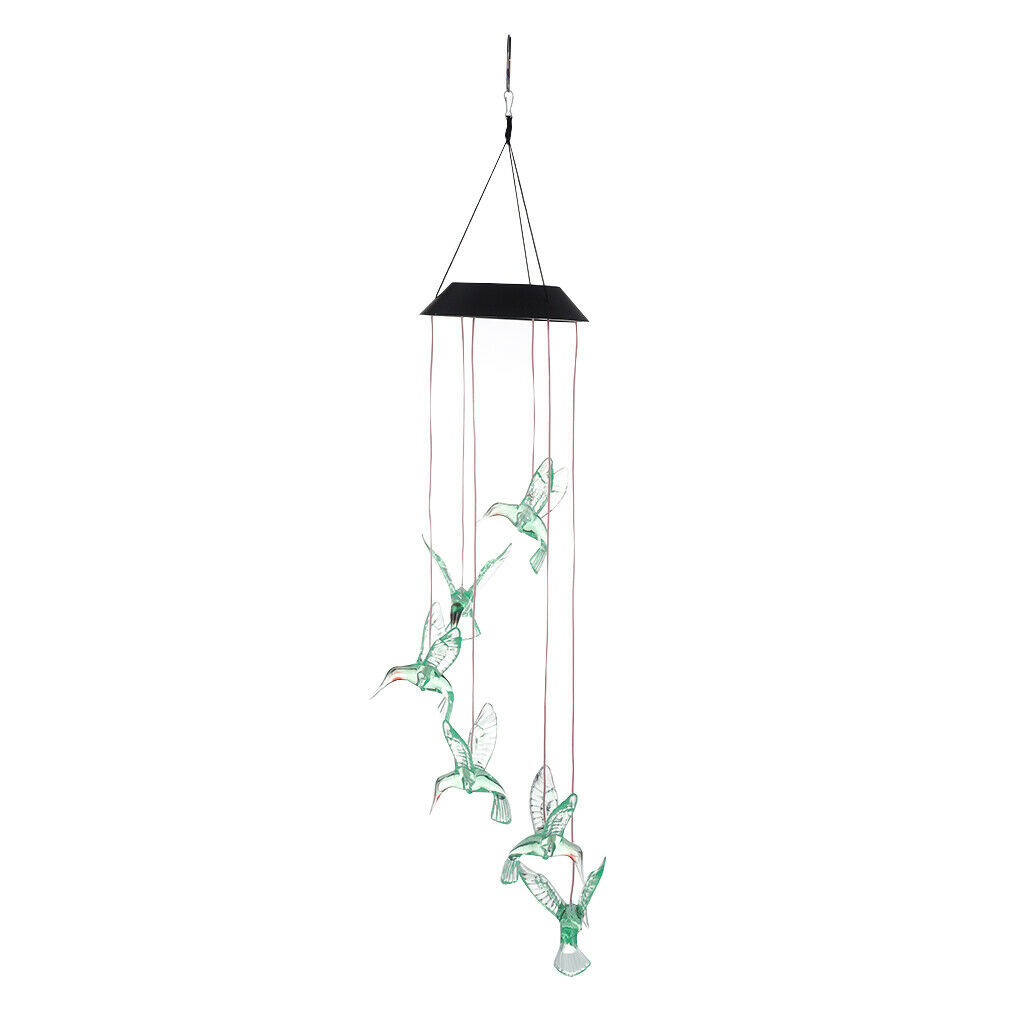 Wind Chimes Light LED Colorful Solar Lamp String Outdoor Waterproof Hanging