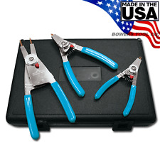 Channellock Convertible Reversible Retaining Ring Plier Set 3pc Snap Ring Rt 3