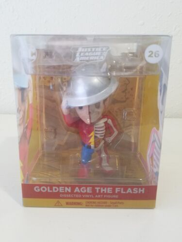 "4/"" The Flash NEW Mighty Jaxx XXRAY Justice League DC Comics Golden Age"