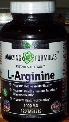 Amazing Nutrition - L-Arginine / Dietary Supplement - 1000 mg / 120 Tablets