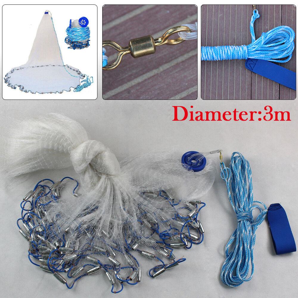 3 4.2Meter Hand Cast-Fishing-Net Dense mesh 755706 High quality new durable UK