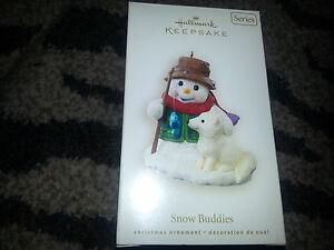 Hallmark-Keepsake-2008-SNOW-BUDDIES-11-Series-CHRISTMAS-ORNAMENT-Snowman-amp-Fox