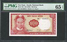 South Vietnam ND (1966) P-19b PMG Gem UNC 65 EPQ 100 Dong