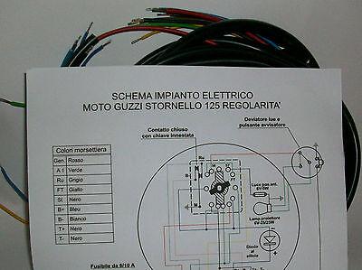 Schemi Elettrici Guzzi : Impianto elettrico electrical wiring moto guzzi stornello