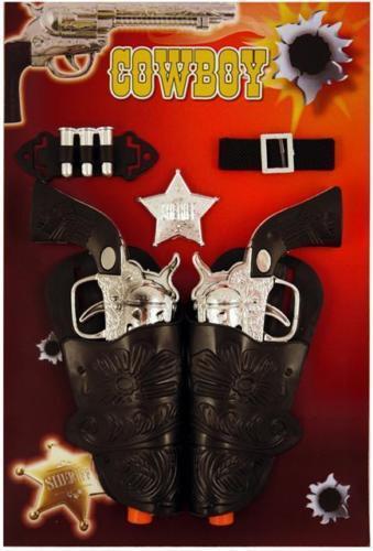Enfants Adultes Cowboy Cowgirl fusils pistolets & étui Robe Fantaisie Jouet Set B52 767