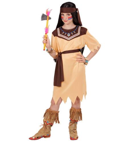 INDIANERIN KOSTÜM MÄDCHEN Karneval Fasching Indianer Frau Kleid Kinder Fest 0720
