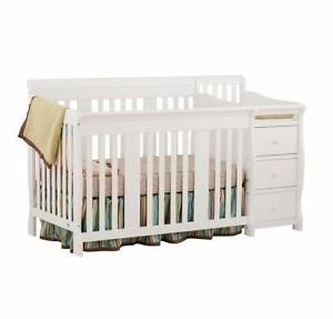 Baby Crib With Changing Table Toddler Bed Daybed Full Size