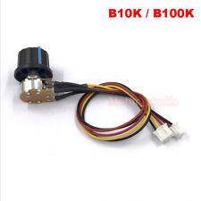 10k 100k Ohm Linear Taper Rotary Potentiometer B10k 100kb Pot Knob On Off Switch