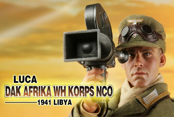 DRAGON IN DREAMS 1 6 SCALE WW II GERMAN LUCA DAK AFRICA KORPS NCO LIBYA 1941