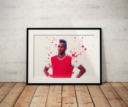 Pierre Emerick Aubameyang Watercolour Poster Posters Print Prints Art Gift