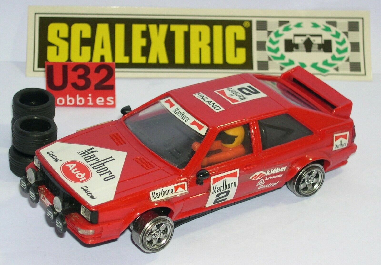 Scalextric Exin C-4070 Audi Quattro Marlbgold Excellent Condition