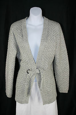 Design History Gray Belted Cardigan  Sweatercoat - size M
