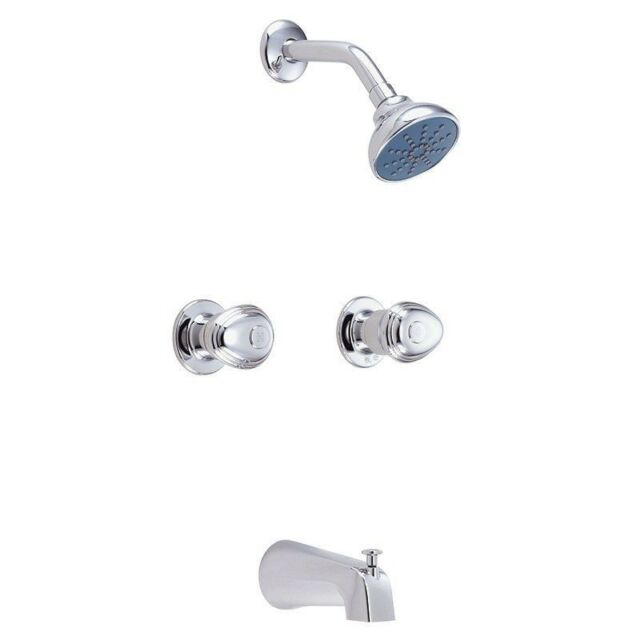 Gerber 48-031 Hardwater Faucets three handle tub//shower fitting Chrome