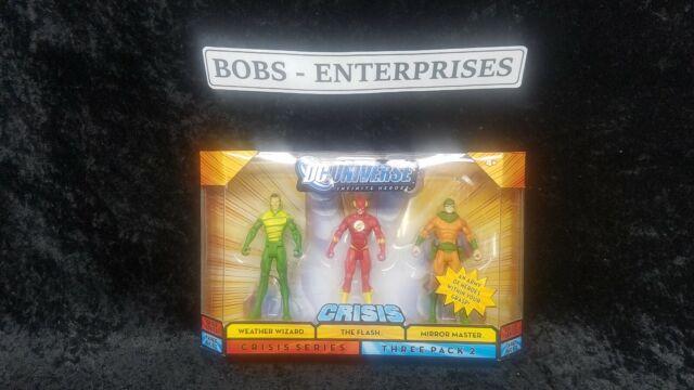 "DC Universe Infinite Heroes Crisis 3 pack 4/"" figures Weather Wizard Flash Mirror"