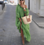 thumbnail 8 - Womens Oversize Long Sleeves Sloping Off Shoulder Loose Maxi Dress Fashion Plus