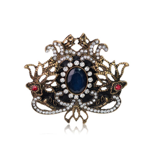 Doux Femmes Rétro Strass de Verre Alliage Mariage Bijoux Broche Pin