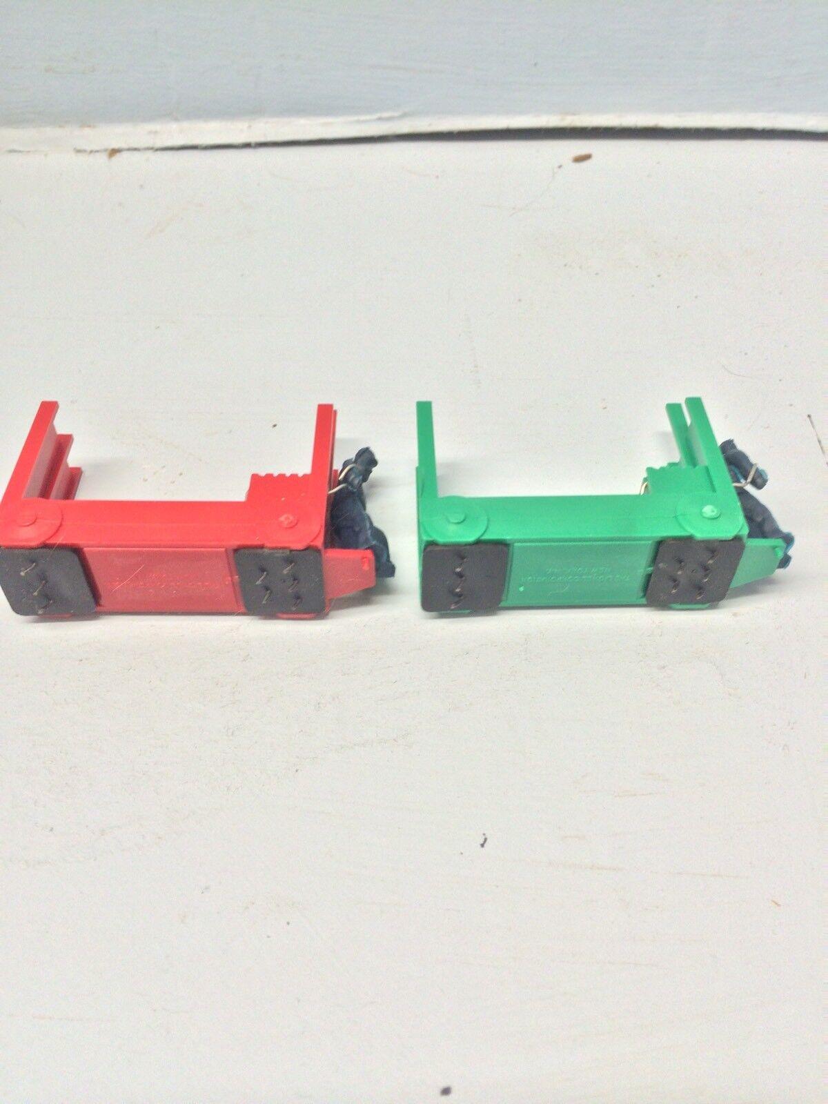 Lionel C estación carros rosso y verde claro se vende como pares solo  5PR.