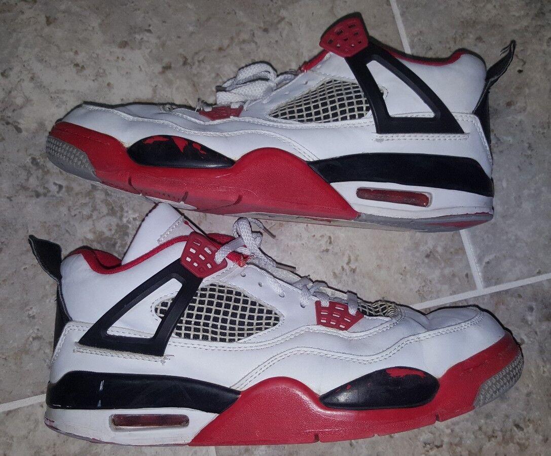 Nike Air Jordan Retro 4 Fire Red  OG 2012 Authentic US7.5 UK6.5