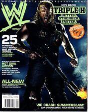 WWE MAGAZINE SEPTEMBER 2007 WRESTLING MARYSE ASHLEY MARIA TRIPLE H HHH