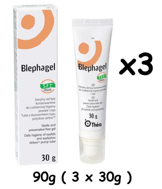 Thea Blephagel 3 x 30g Gel Eyelids Eyelashes Hygiene Cleansing Preservative Free