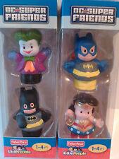 FISHER PRICE LITTLE PEOPLE DC SUPER FRIENDS BATMAN BATGIRL JOKER WONDERWOMAN