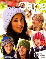 Slip Stitch Cap Pattern Book 8 Crochet Hat Projects Adult Baby Child Crocheting