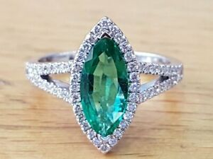 1.5ct Round Cut Green Emerald Wedding Band Curved Stackable 14k WhiteGold Over