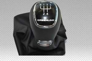 New-Original-Leather-gear-knob-Greenline-5-Aisle-gear-knob-Skoda