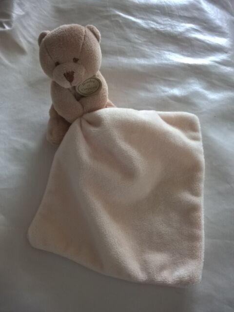 Doudou et compagnie ours marron mouchoir blanc comme neuf