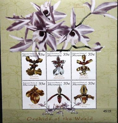 Briefmarken Motive Micronesia Mikronesien 2000 899-16 Block 60-61 Orchideen Orchids Blumen Flowers GläNzend