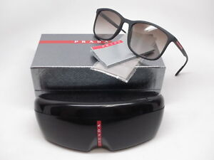 542cc2c1699b Authentic Prada Sport SPS 01T DG0-0A7 Black Rubber w Grey Gradient ...