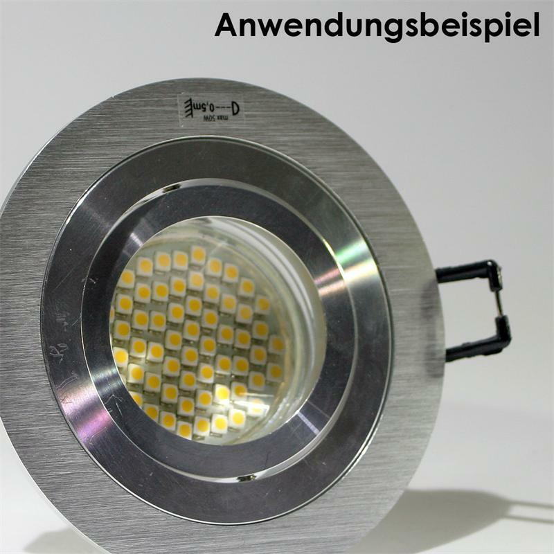 10x GU10 GU10 10x Spot Encastré Lampe Encastrée Rond Aluminium Brossé 230V 4126b1