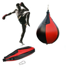 Boxing Pear PU Swivel Punch Bag Punching Exercise Speedball Speed Fitness