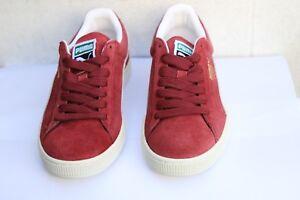 best sneakers 70e47 937f4 Details about Puma Suede Classic Cabernet Burgundy White Mens UK Size 7 EU  40.5