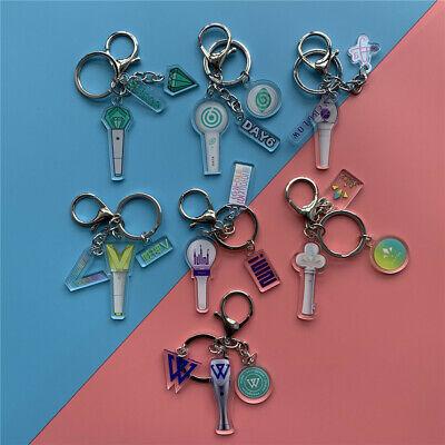 Kpop ASTRO SF9 LOONA WJSN Lightstick Shaped Key Chain Cute Keyring Pendant Charm