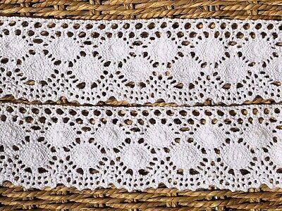 """Quality Pale Cream Vintage Cotton Cluny Crochet Lace Trim 1.5/""""//4cm laverslace"""
